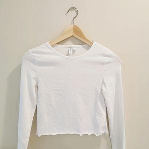 H&M crop white top